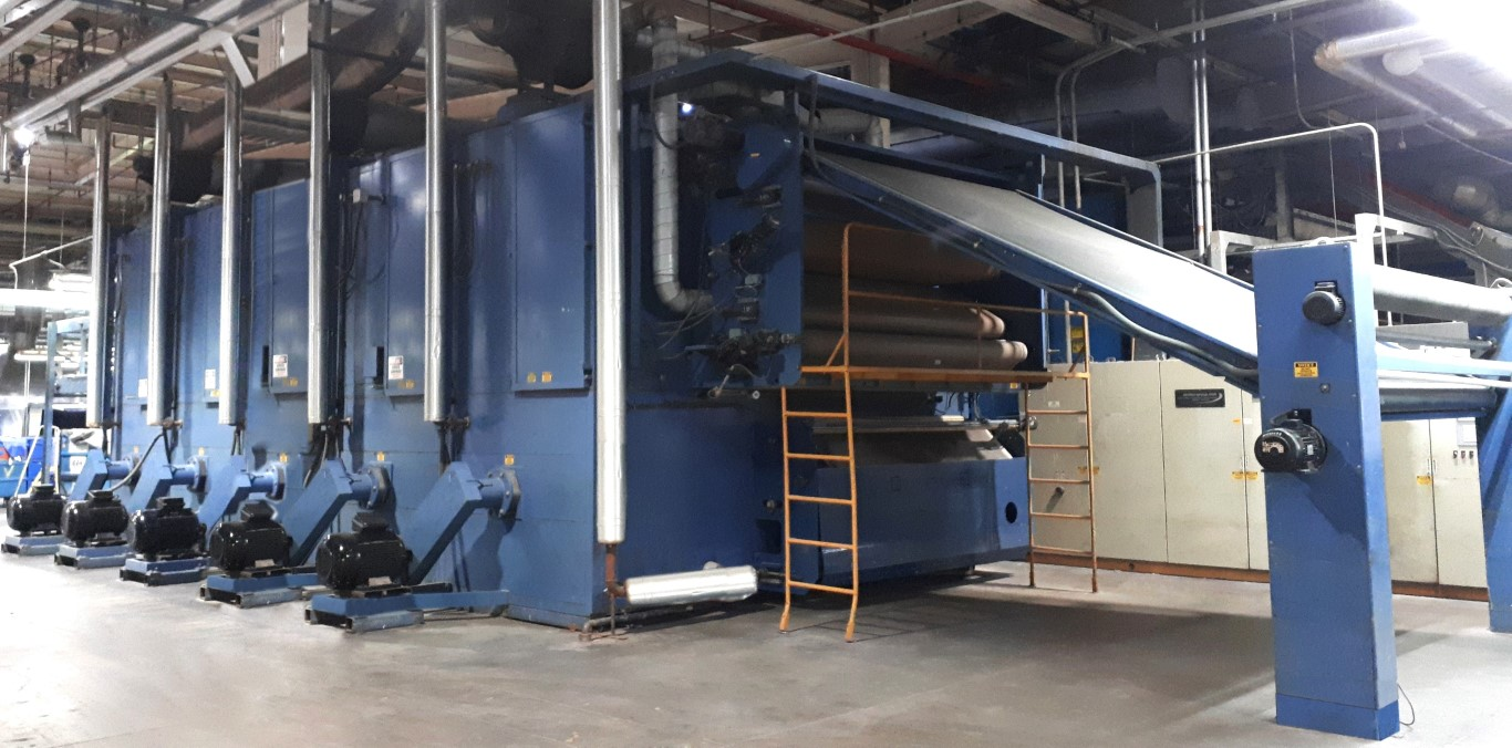Santex Relax Jumbo Dryer 5 zones, Steam heated, 3000 mm working width.  3 passes, year 2002 steam dryer